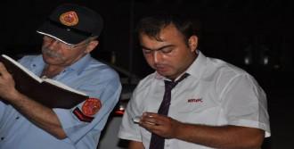 Manavgat'ta Turistleri Taşıyan Midibüs Yandı