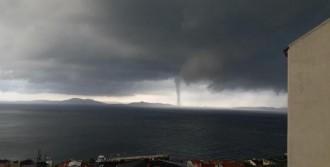 Marmara Adası'nda Hortum Korkuttu