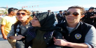 Marmaris'te Kobani Eyleminde 10 Gözaltı