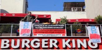 Burger King Şubesinde Eylem