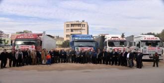 Suriye'ye 4 Yardım Tır'ı Gönderildi