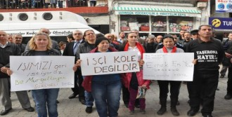 İşçiler'den Belediye Önünde Eylem