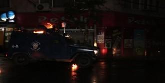 Zırhlı Araç Alevler İçinde Kaldı