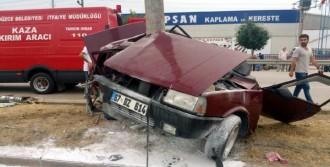 Otomobil İkiye Katlandı: 3 Yaralı