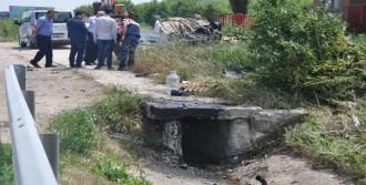 Otomobil Kanala Düştü