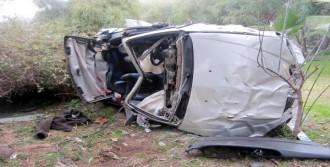 Otomobiliyle Şarampole Uçan Sürücü Öldü