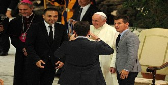 Papa Francıscus Futbolcuları Kabul Etti