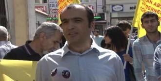 İl Milli Eğitim Müdürlüğü Önünde Protesto