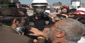 Polis İle Göstericiler Arasında İlginç Diyaloglar