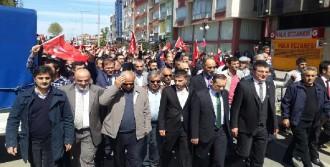 Rize'de HDP Seçim Bürosu Önünde Arbede
