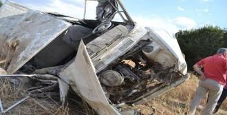 Şarampole Uçan Araçta 8 Kişi Yaralandı