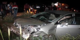 Şarampole Uçan Otomobilde 1 Ölü, 6 Yaralı