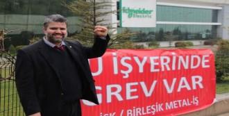 Schneider Elektrik İşçisi Manisa'da Grevde