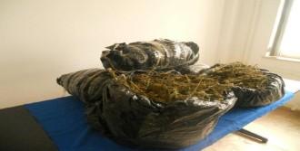 Sınırdaki Çuvalda 19 Kilo 375 Gram Esrar