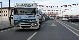 Sivas'tan Afrin'e 12 TIR yardım