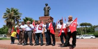 Siverek'te Chp'liler, Atatürk Heykeline Saldırıyı Kınadı