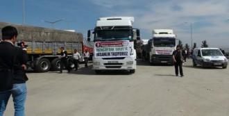 Suriye'ye 13 TIR'lık Yardım