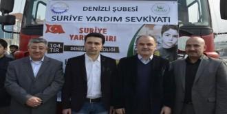 Suriye'ye Denizli'den 1 TIR Dolusu Yardım