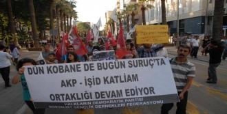 Suruç'taki Bombalı Saldırı Denizli'de Protesto Edildi
