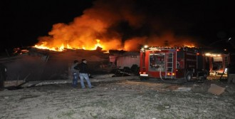 Süt Ürünleri Fabrikasında Yangın