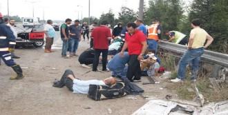 TEM'de Kaza: 7 Yaralı