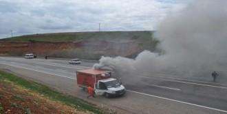 Tıbbi Atık Toplama Aracında Yangın