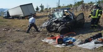 Manisa'da Kazada Sürücü Öldü