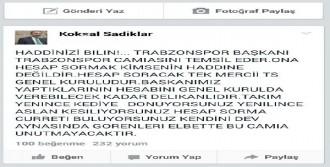 Trabzonspor Yöneticisinden Eleştirilere Sert Çıkış