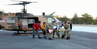 Yaralı, Askeri Helikopterle Elazığ'a Getirildi
