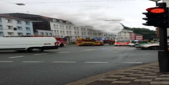 Türklerin Oturduğu Binada Korkutan Yangın