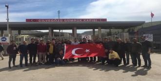 Suriye sınırına moral ziyareti