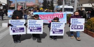 Eğitim Politikaları Yürüyüşle Protesto Edildi