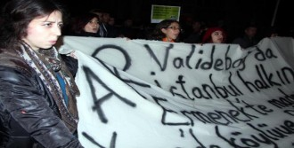 Validebağ'da Kefenli Protesto
