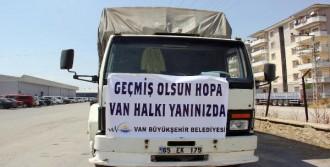 Van Hopa'ya Yardım Gönderdi