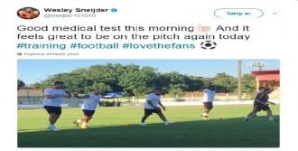 Wesley Sneijder Antrenmana Çıktı