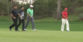 Woods İle Çavuşoğlu Golfte Yarıştı