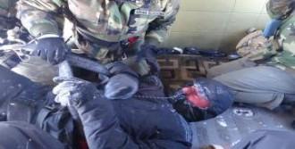 İşçiler Askeri Helikopterle Kurtarıldı