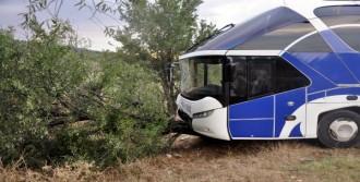 Yolcu Otobüsü İle Süt Tankeri Çarpıştı: 5 Yaralı