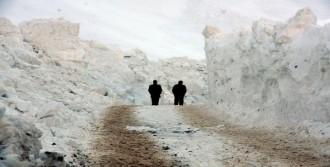 Yüksekova'da Çığ Yolları Kapattı