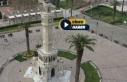 İzmir'de boş kalan meydan ve alanlar havadan görüntülendi