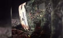 Amasya'da otobüs devrildi! Ölü ve yaralılar var!