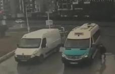 Akaryakıt istasyonunda kazayı böyle önledi
