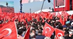 İzmir'deki Erdoğan ve Bahçeli'nin ortak mitinginden ilk kareler