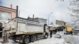 İzmir'den kar manzaraları