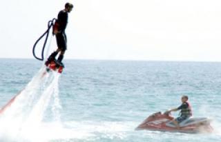 Alanya'da Flyboard Heyecanı