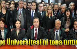 Özcan, Ege Üniversitesi Yönetimini Suçladı
