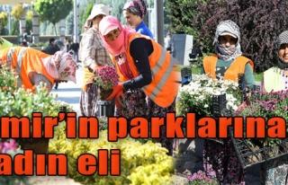 İzmir'in Parklarına Kadın Eli