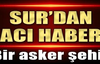 Diyarbakır Sur'da Bir Asker Şehit