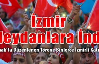 İzmirliler Meydanlara İndi