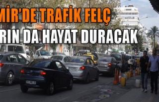 İzmir'de Trafik Felç, Yarın da Hayat Duracak